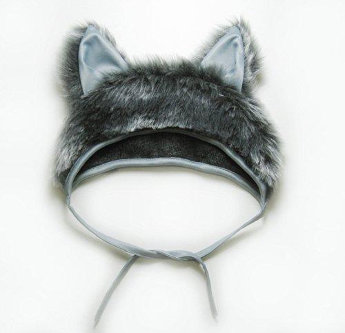 f Mütze mit Ohren Kappe Hut Wolf Karneval Kostüme für Kinder älter als 9 Jahre, Herren Männer Frauen Festtage Größe L / XL Geschenk (Wolf Kostüm Hut)