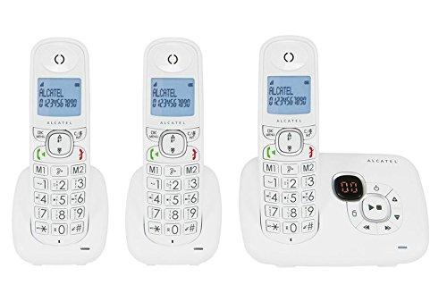Alcatel XL 385Voice Trio cordless con segreteria telefonica Bianco