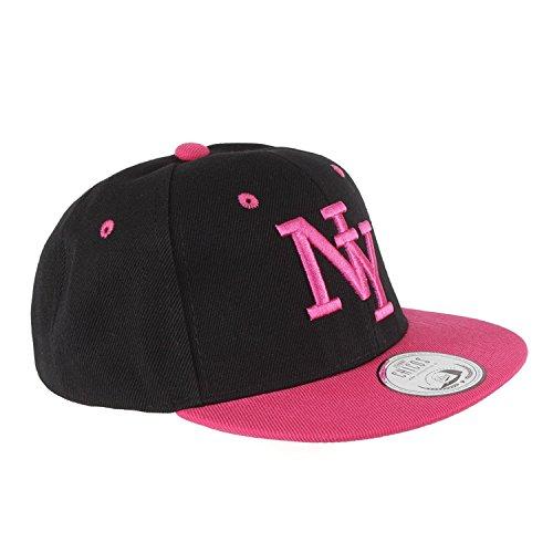 JOHNNY CHICOS NY New York süße Kindercap Kinder Cap Snapback 46-56cm Kopfumfang, Größe:Kinder;Farbe:NY Blk Pink
