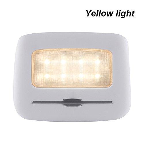 Preisvergleich Produktbild Magnetisches Noten-Nachtlicht-Auto-Reisemobil-Bus-Wohnwagen Wohnmobil-Leselicht, Korridor-Licht-Paste Die Wand-Lampenstammlicht LED-Deckenlampe USB-wieder aufladbares Nachtlicht-Beleuchtung (Gelbes Licht)
