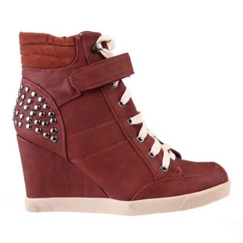 Les chaussures à clous pour dames (S815) Rouge
