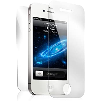 vau Screengards - Display Schutz-Folien für Apple iPhone 4S / 4 ( 6er-Set 4 x Front + 2 x Back )