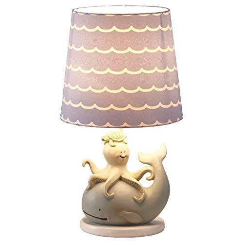 YUHUS Home Tischlampe Umweltschutz Harz Tischlampe, Lila Kreative Kinder Schreibtischlampe Taste Schalter Kinderzimmer 42 cm * 22 cm