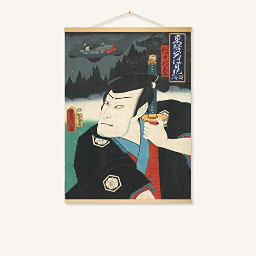 mmzki Hängende Malerei Japanisches Restaurant Wandmalerei-Rollenmalerei 21-D 70 * 50
