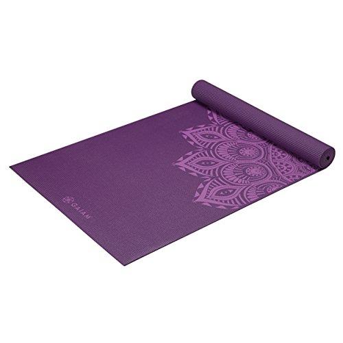 Gaiam nbsp;–Alfombrillas para yoga impresión premium, Purple Mandala