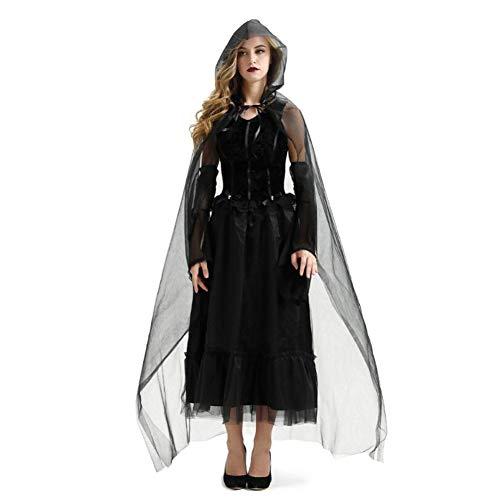 ombie Vampire Bride Hexe Anzug mit Ärmeln und Umhang,XL ()