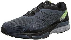 Salomon X-Scream 3D, Men Sneakers, gray (Grey Denim/Black/Fluo Yellow), 9.5 UK (44 EU)