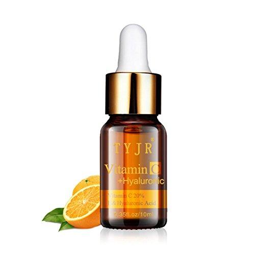 LCLrute NEUE Massageöl Vitamin C Flüssiges Serum Anti-Aging Whitening VC Essence Öl (Schwarz)