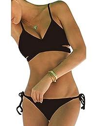 Vandot Frauen Sexy Bikini Set Kreuz und Quer Bandage Push Up gepolstert BH Triangle Badeanzug Badebekleidung Beachwear