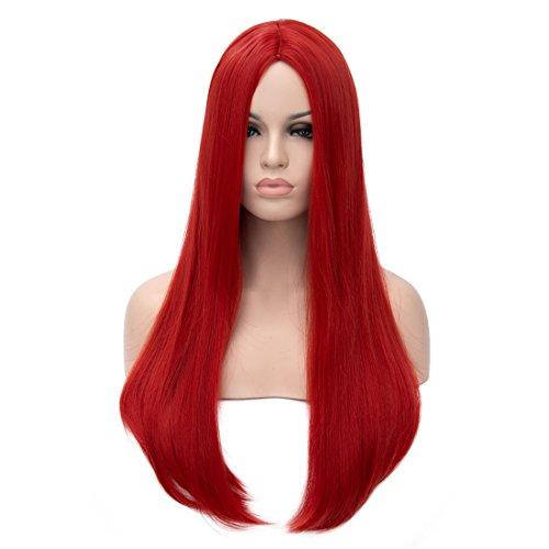 Kalyss Lange Gerade Perücke Importierte Synthetische Cosplay Kostüm Haar für Frauen