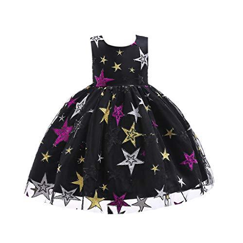 IZHH Kinder Kleider, Mädchen Sterne Gestickte Prinzessin Kleid Stern Print Spitzenkleid Kinder Mädchen Prinzessin Kostüme Party Tutu Bogen - Prinzessin Zelda Kostüm Kind