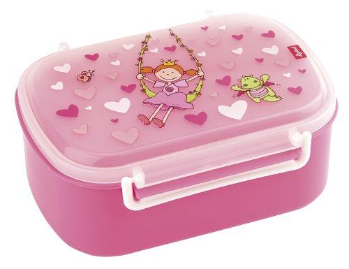 sigikid, Mädchen, Brotdose mit buntem Druck, Brotzeitbox Pinky Queeny, Pink, 24472