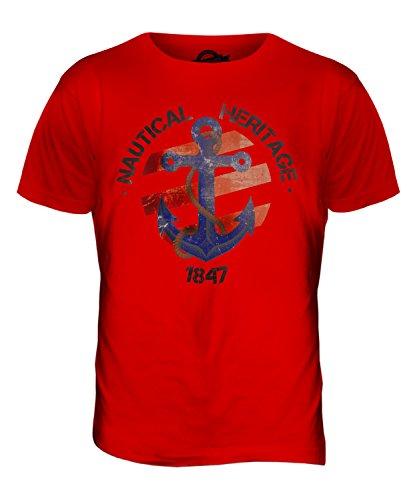 CandyMix Nautisch Nautical Heritage Herren T Shirt Rot