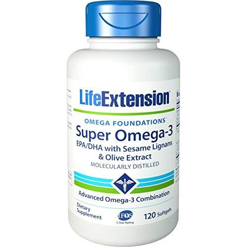 Life Extension Super Omega-3 Plus EPA/DHA mit Sesam-Lignanen 120 Weichkapseln