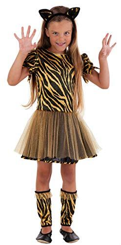Magicoo Süßes Tiger Kostüm für Kinder Mädchen - Kostüm Leopard für Mädchen - Tiger Kostüm Mädchen