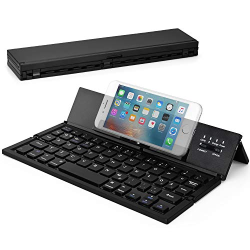 Wesimplelife Bluetooth Tastatur Faltbare Kabellose Kleine Keyboard Ultradünn Portable Falttastatur Kabellos Kompatibel für Android Smartphone Tablet Notebook iPad Windows Kleine Bluetooth