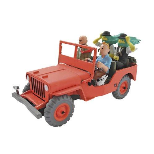 Tim und Struppi Tintin Figur Willys Jeep mit langhaarigen Schultzes, ca. 9cm