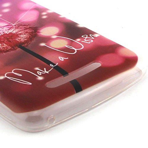 ANNN® Étui transparent en TPU silicone pour Wiko Lenny 2 Souple Housse de Protection Flexible Soft Case Cas Couverture Anti Choc Mince Légère Silicone Cover avec Quill stylet + Pendentif poisson--A03 A06