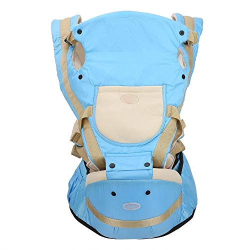 Baby Carrier - Delaman 5-in-1 Bethbear Multifunctional Newborn Baby Activity Backpacks Carriers Hip Seat (Color : Blue)  Delaman