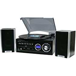 Roadstar HIF-8888 TUMP - Sistema audio con tocadiscos (HiFi, USB/SD/MMC, MP3), color negro