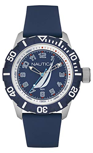 Nautica Orologio Analogico Quarzo Unisex Adulto con Cinturino in Silicone NAI08505G