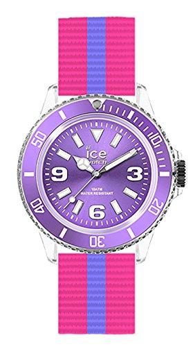 Ice-Watch Ice. DI. U.N.14–United–Ladies Watch–Analogue Quartz–Dial Purple Nylon Bracelet Multi-Coloured