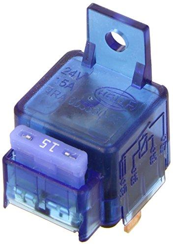 HELLA 4RA 003 530-051 Relais, Arbeitsstrom, 24V, mit Halter, mit Sicherung 24v Relais