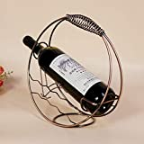 Cocina Decoración para el hogar Figuras Miniaturas Metal Botella de Vino Estante de Vino Titular de Vino Decoración Adornos Artesanía