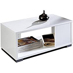 Mesa de Centro Blanco Brillante diseño Moderno