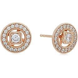 Pandora Pendientes de botón Mujer chapado en oro - 280721CZ