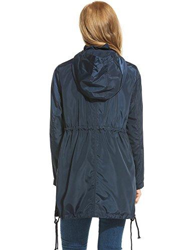 Meaneor Damen Regenjacke Parka Wasserdicht Kapuzenjack Sport Jacke Funktionsjacke Outdoor Winddicht -