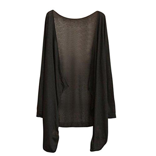 Amlaiworld donna cardigan,estive lungo cime moda protezione solare abbigliamento (c)