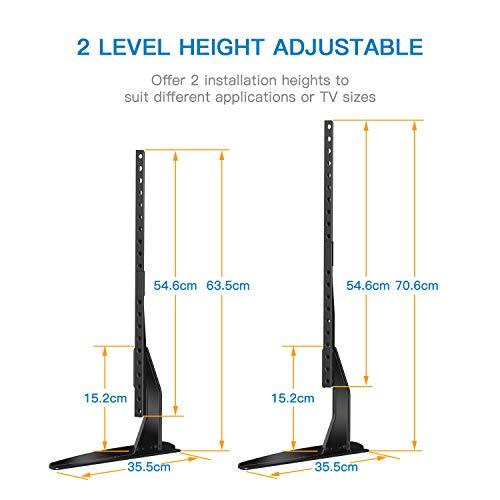 """41jfoKu9WML - Soporte Universal de TV de Sobremesa para Pantalla Plana de 37-65"""", LCD Televisores con Base de Patas de Altura Ajustable para Soportar hasta 50kg, VESA hasta 800x400mm"""