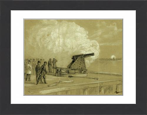 framed-print-of-scene-on-the-dock-at-the-rip-raps-testing-the-sawyer-gun-and-projectile-a
