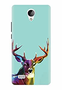 Noise Designer Printed Case / Cover for Vivo Y21L / Animated Cartoons / Colorful Deer