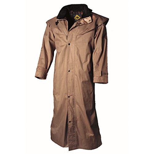 Black Roo Stockman Coat Mantel für Cowboys und Biker Braun