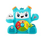 Fisher-Price FXD02 Dance and Groove Rockit, Baby Learning Robot Toy, Teaching First Words, Letters, Numbers, Colours and Shapes, 6 Months
