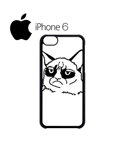 Grumpy Cat Cartoon Meow Swag Mobile Phone Case Back Cover Hülle Weiß Schwarz for iPhone 6 White Weiß