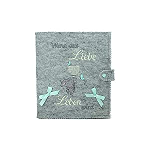 Babytagebuch, Babyalbum DIN A5, Geschenk zur Geburt, mit 46 Innenseiten zum Ausfüllen und Platz für Fotos