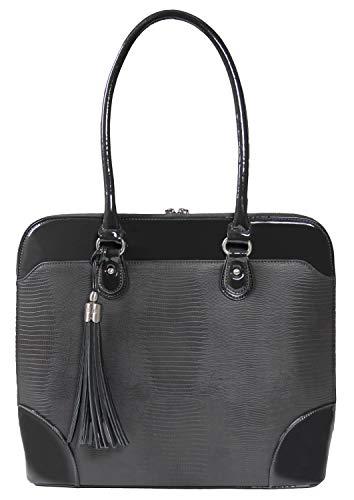 Handgefertigte Designer-handtaschen (BFB Laptop Tragetaschen für Frauen-33cm Laptop-Umhängetasche-Designer Handgefertigte Handtasche-Qualität, DASS 's Made to Last grau anthrazit)