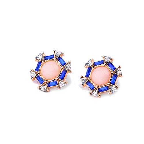 QYMX Ohrring-Frauen, Nette Mode-Rosa-Geometrische Bolzen-Ohrring-Modeschmuck-Marken-Frauen-Zusätze