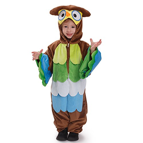 (Dress Up America Kinder Hoo Hoo Eule Rollenspiel Kostüm Outfit für Kinder)