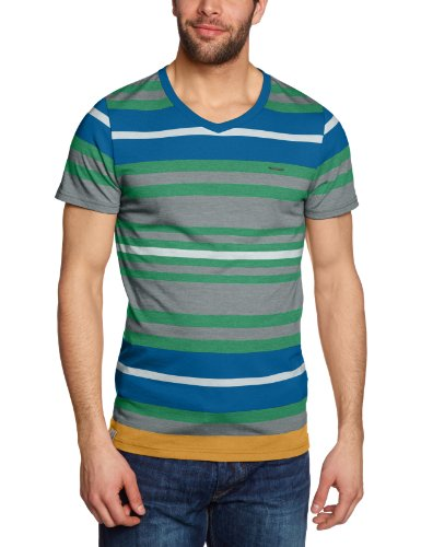 Ragwear Herren T-Shirt Alley, mint stripes, XXL, 10610108 622S (Tee Alley)