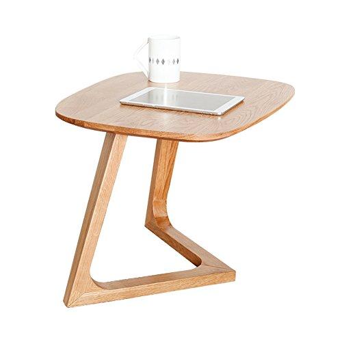 LXYFMS Nordische Seite Massivholz Beistelltisch Holz Farbe Kreative Mini Japanisch-Stil Eiche Sofa Ecke Modernen Minimalistischen Kleinen Couchtisch Klapptisch (Farbe : A) -