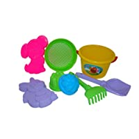 Polesie 2913 143: Middle Sieve Shovel Rake No.5 2 Forms (Squirrelwithdoggie) -Sets: Bucket, Medium, Multi Colour