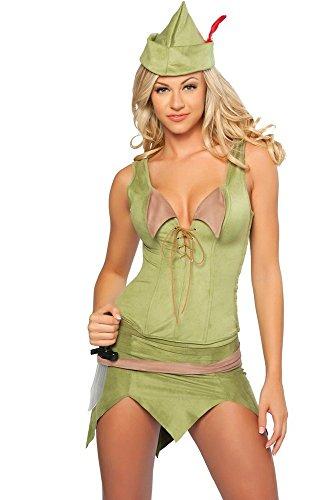 Sexy Damen-Kostüm PETER PAN Gr. S Film Fernsehen Märchen Robin Hood (Kostüm Robin Film)