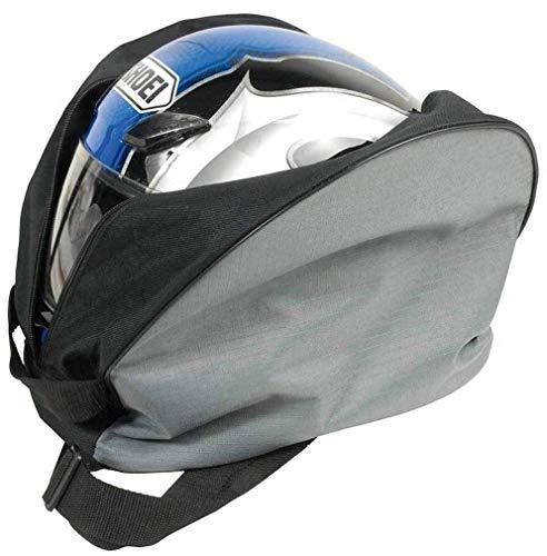 Borsa porta casco per moto con tracolla e tasca porta guanti (38x28x20 cm)
