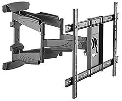 RICOO S5564, TV-Wandhalterung, Schwenkbar, Neigbar, TV-Halterung, Universal (37-70 Zoll (94-178 cm)) Curved LCD-, LED-, Flachbild-Fernseher Wand-Halter, VESA 300x200 600x400, Schwarz