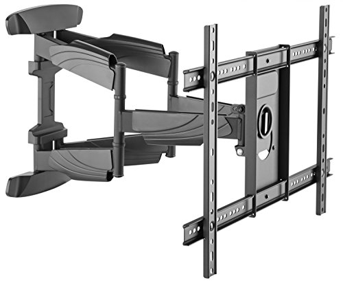 RICOO Soporte de Pared para TV S5564 Mueble para televisores Brazo Colgante Soportes Inclinable y Giratorio 3D OLED LED LCD Plasma 4K Curvo VESA 600x400 Universal para televisor Negro