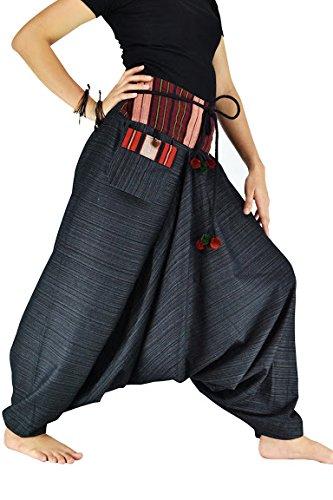 Damen Haremshose Pumphose Aladinhose Handarbeit Baumwolle Yoga (Kleinkinder Fußball Für Kostüme)